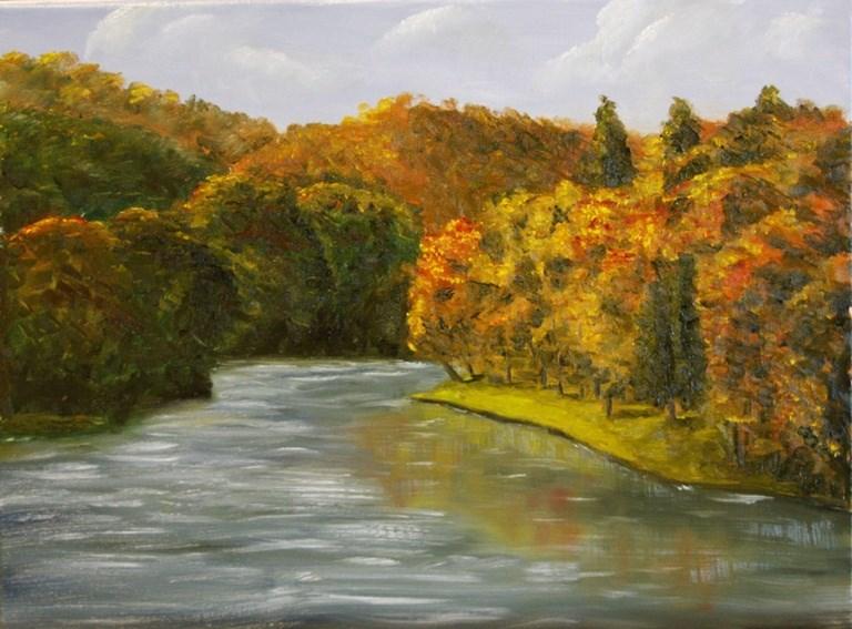 """Devil's Den in the Fall"" original fine art by Mary Datum"