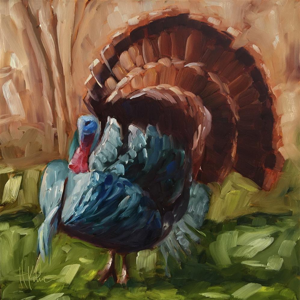 """The Turkey Trot"" original fine art by Hallie Kohn"