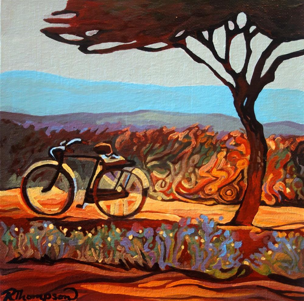 """Tanzanian Runway"" original fine art by Rachel Thompson"