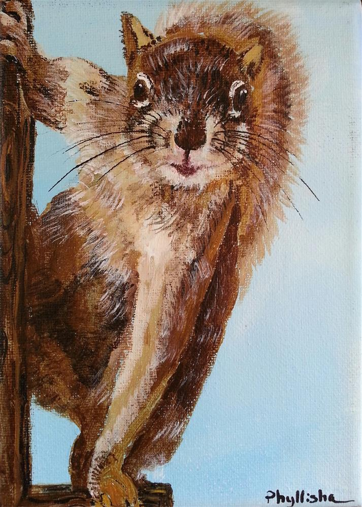 """Just Hanging Out"" original fine art by Phyllisha Hamrick"