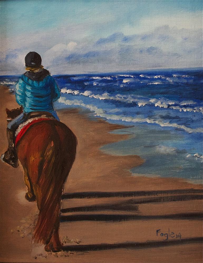 """Andy's Winter Ride"" original fine art by Rachel Fogle"