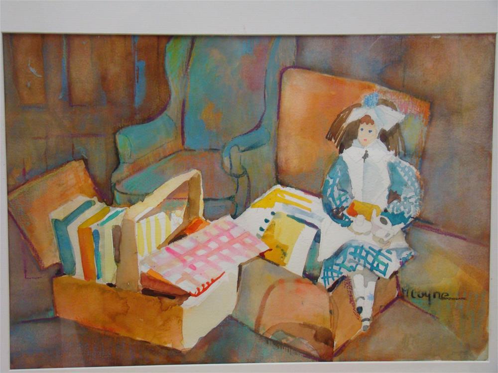"""""""the reader"""" original fine art by meribeth coyne"""