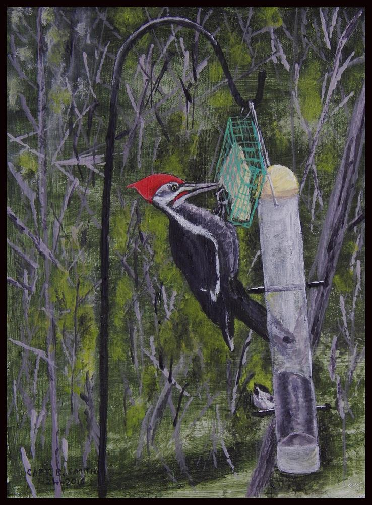 """Aiden's Woodpecker"" original fine art by Captain B Smith"