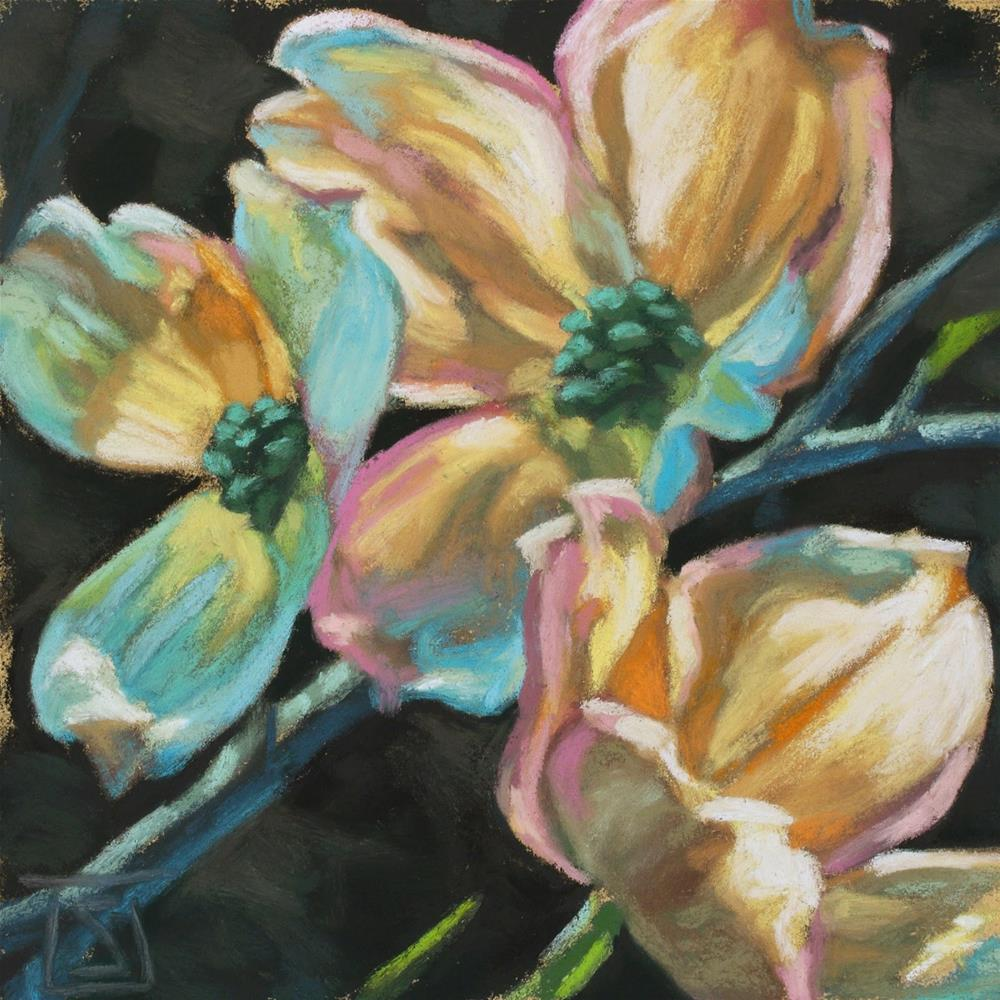 """Dogwood Morning"" original fine art by Sheila Evans"