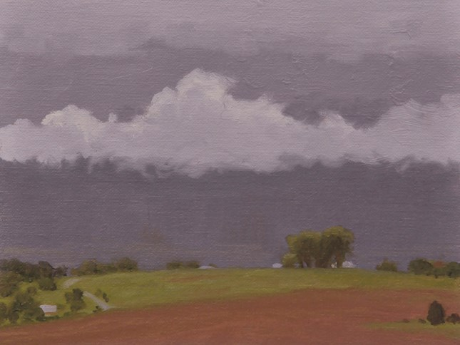 """Building storm"" original fine art by Susan Matteson"