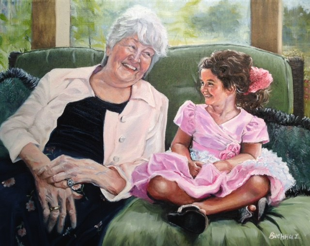 """Pretty in Pink"" original fine art by Terri Buchholz"