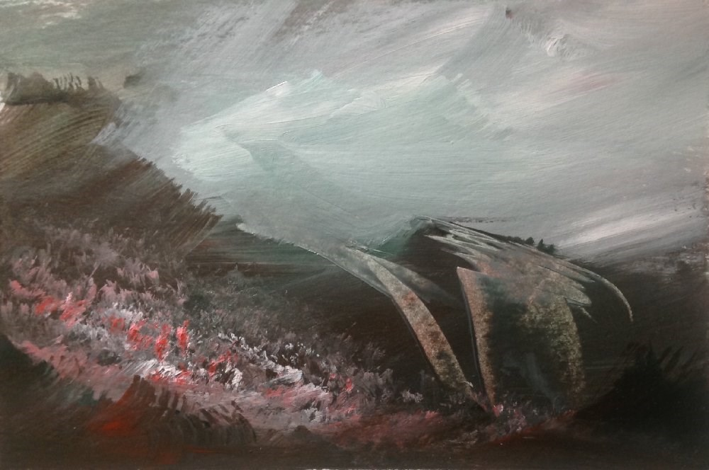 """Beyond Reach"" original fine art by David Kuhn"