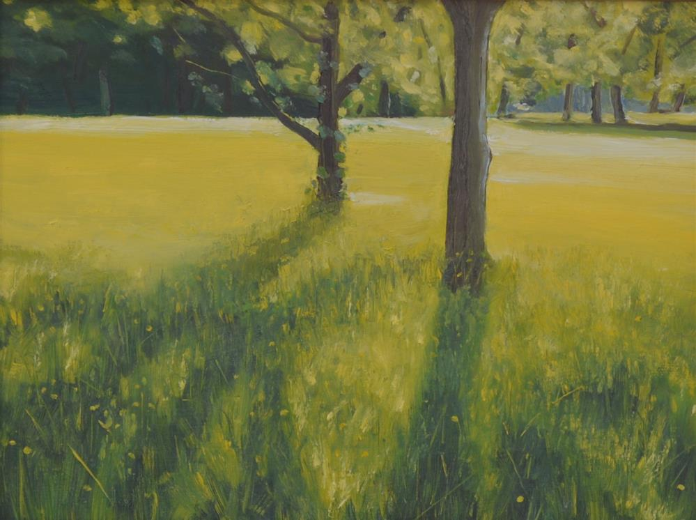 """Meadow Glow"" original fine art by Peter Bain"