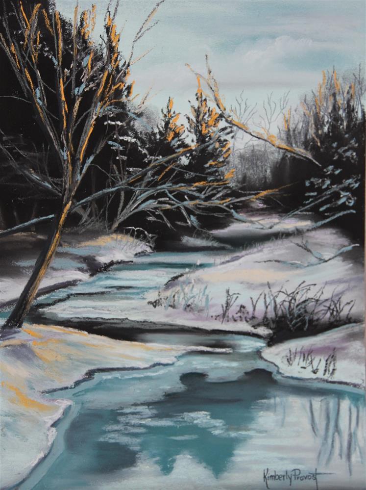 """Frozen Creek"" original fine art by Kimberly Provost"