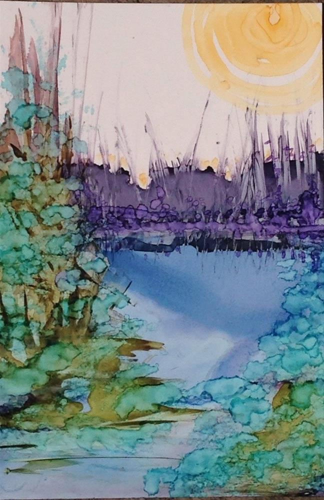 """Violet Marsh"" original fine art by Kelly Alge"