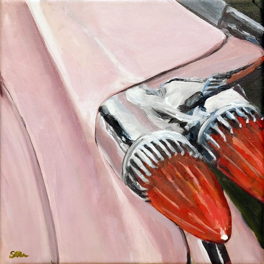 """1192 Pink Cadillac"" original fine art by Dietmar Stiller"