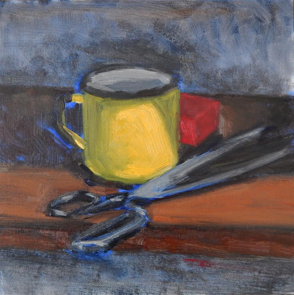 """Yellow Cup"" original fine art by Megan Schembre"