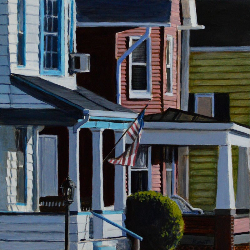 """Small American Town"" original fine art by Kim Testone"