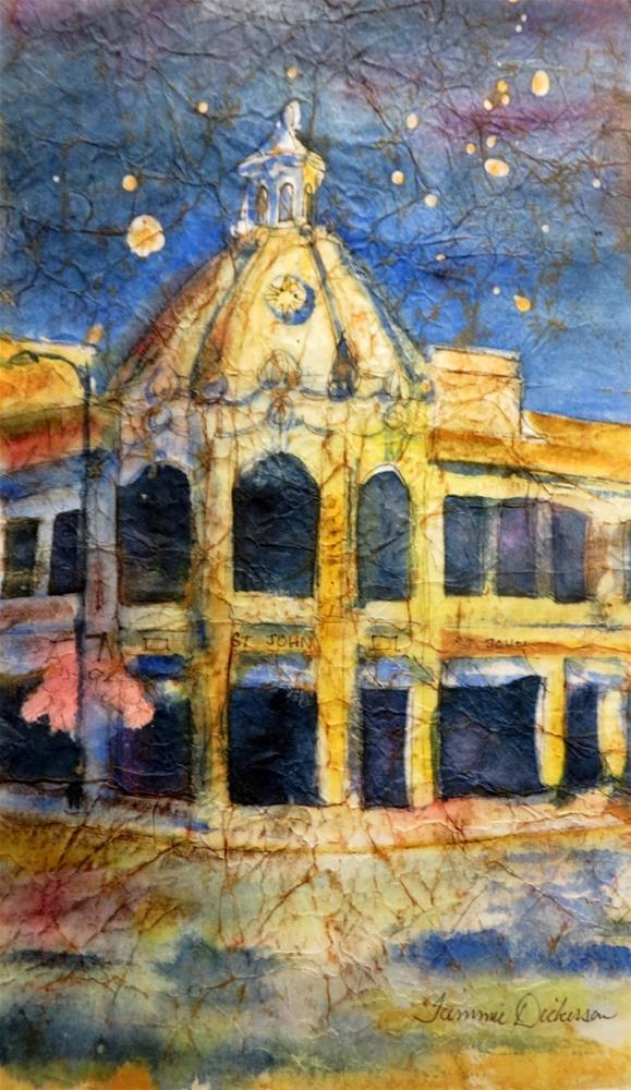 """Plaza After Hours"" original fine art by Tammie Dickerson"