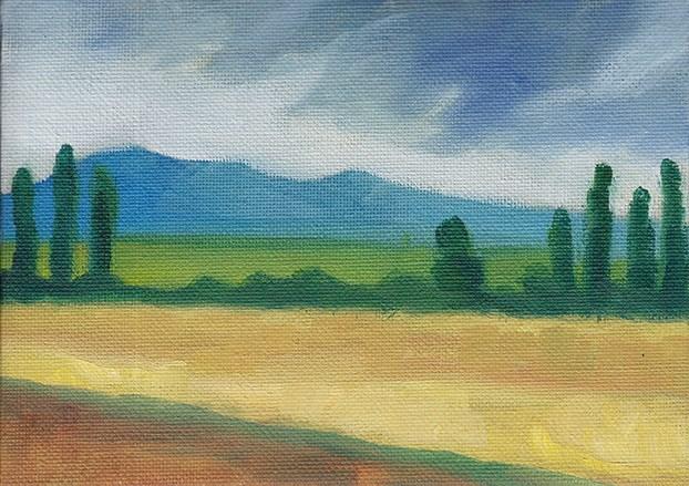 """Towards the Mountain"" original fine art by J M Needham"