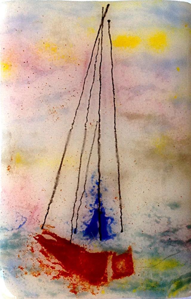 """""""Day Sail"""" original fine art by Kristen Dukat"""