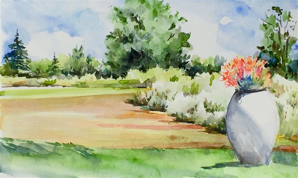 """Summer Afternoon"" original fine art by Judith Freeman Clark"
