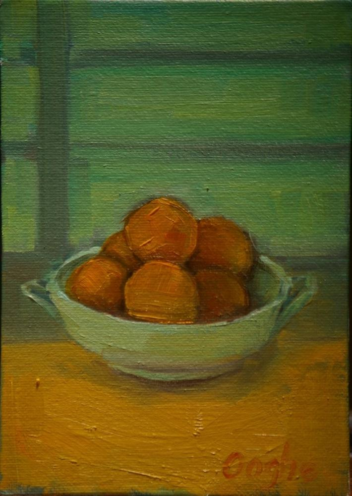 """Bowl of Oranges"" original fine art by Angela Ooghe"