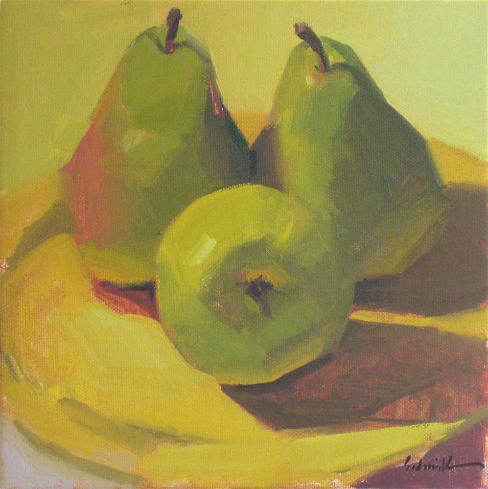 """A Trio of Pears (no.2)"" original fine art by Sarah Sedwick"