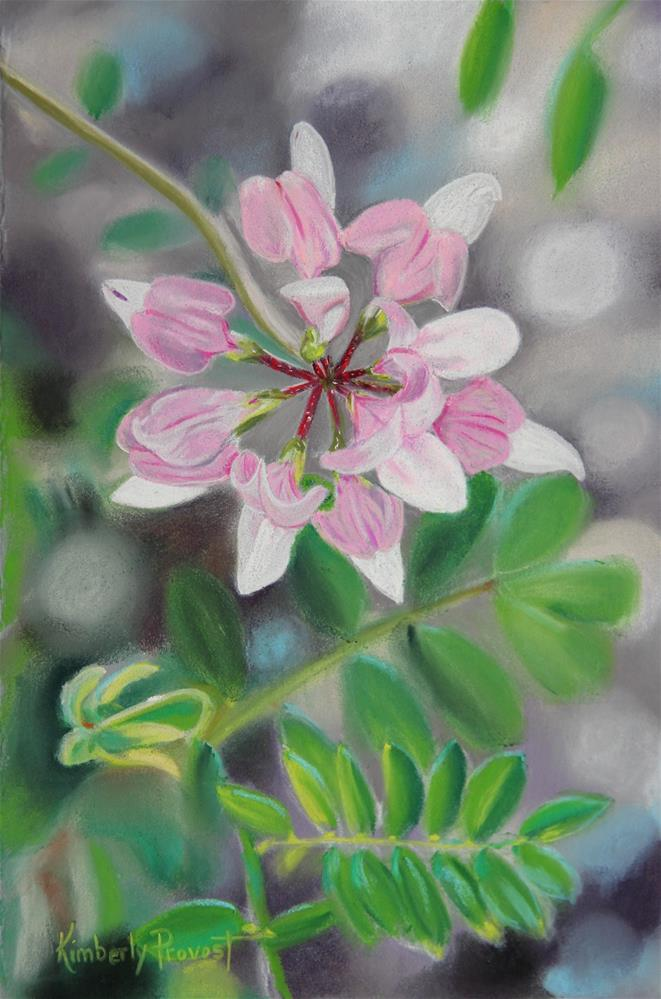 """Touch of Pink"" original fine art by Kimberly Provost"