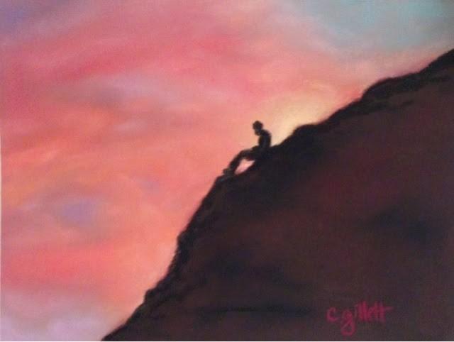 """""""Contemplation"""" original fine art by Cindy Gillett"""