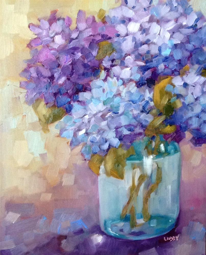 """Sunday Blues"" original fine art by Libby Anderson"