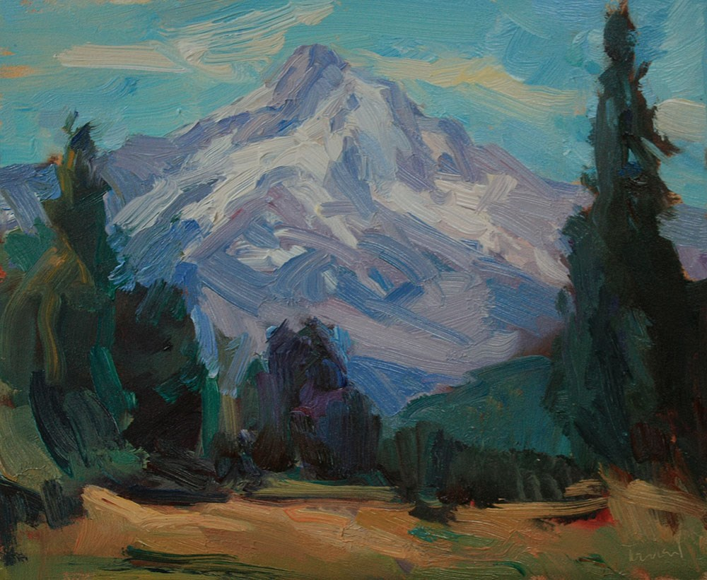 """Mt. Hood Cooper Spur"" original fine art by Kathryn Townsend"