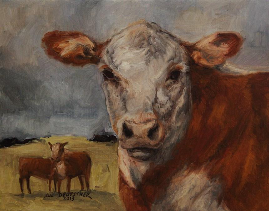 """""""Hereford Face"""" original fine art by Sue Deutscher"""