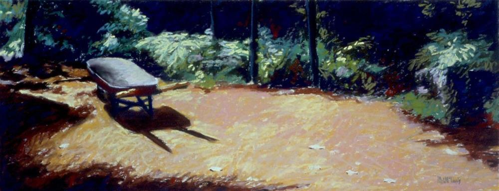 """Wheelbarrow"" original fine art by Mary McInnis"