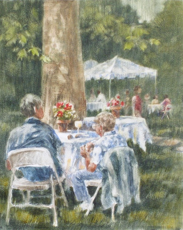 """Primavera in the Garden"" original fine art by Ginger Pena"