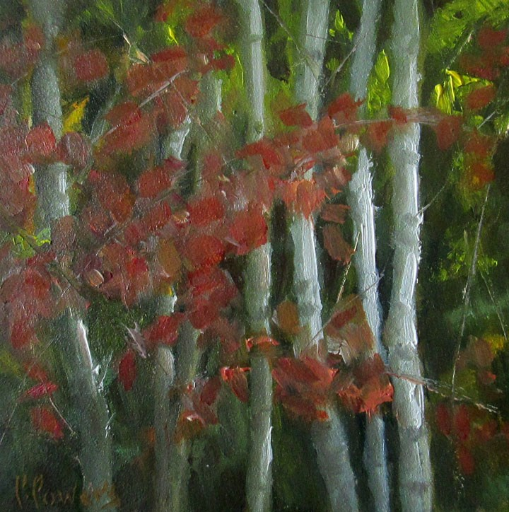 """Four Inches of Fall"" original fine art by Patricia J. Powers"