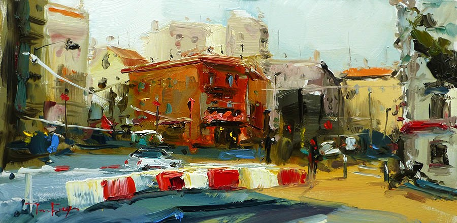 """Streets of Nice"" original fine art by Jurij Frey"