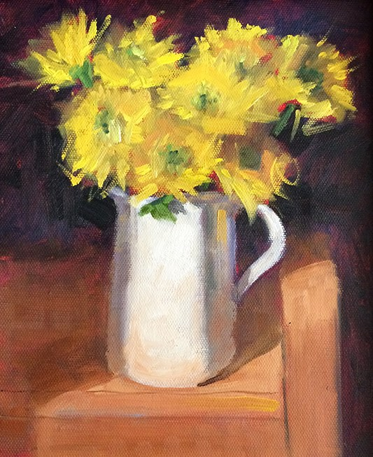 """Yellow Daisies"" original fine art by Deborah Newman"