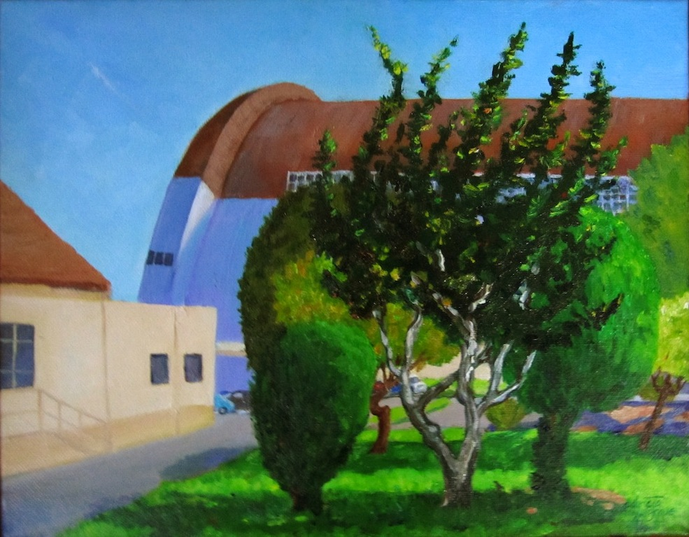 """Hangar One (at Moffet Field)"" original fine art by Patricia Musgrave"