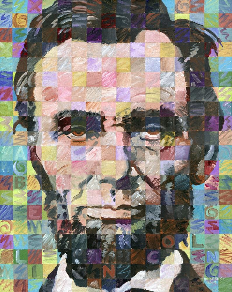 """Abraham Lincoln"" original fine art by Randal Huiskens"