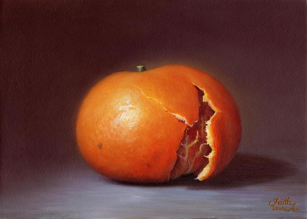 """Slightly Peeled Tangerine"" original fine art by Faith Te"
