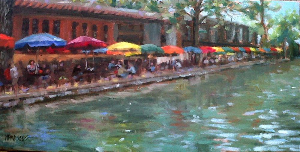 """River Walk San Antonio"" original fine art by Nancy Parsons"