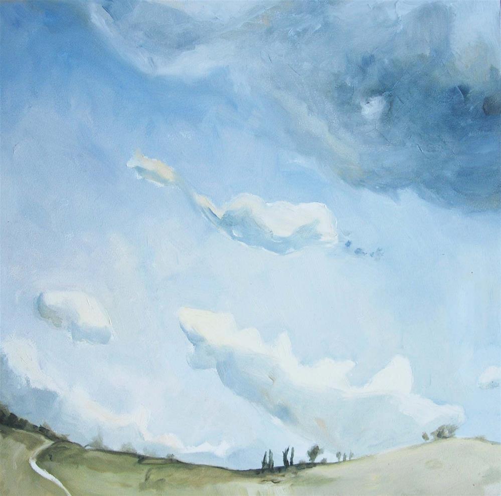 """Tuscan hill"" original fine art by Pam Greene"
