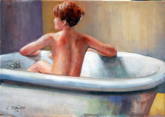 """Morning Bath"" original fine art by Christina Dowdy"