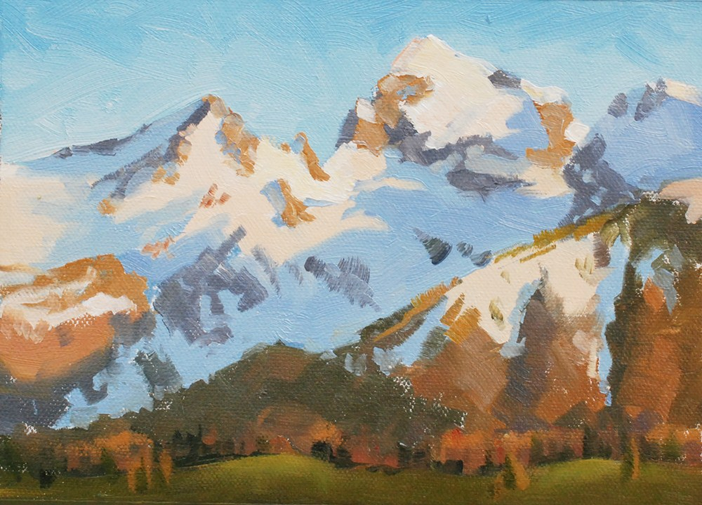 """Teton Sunrise"" original fine art by Susan McManamen"