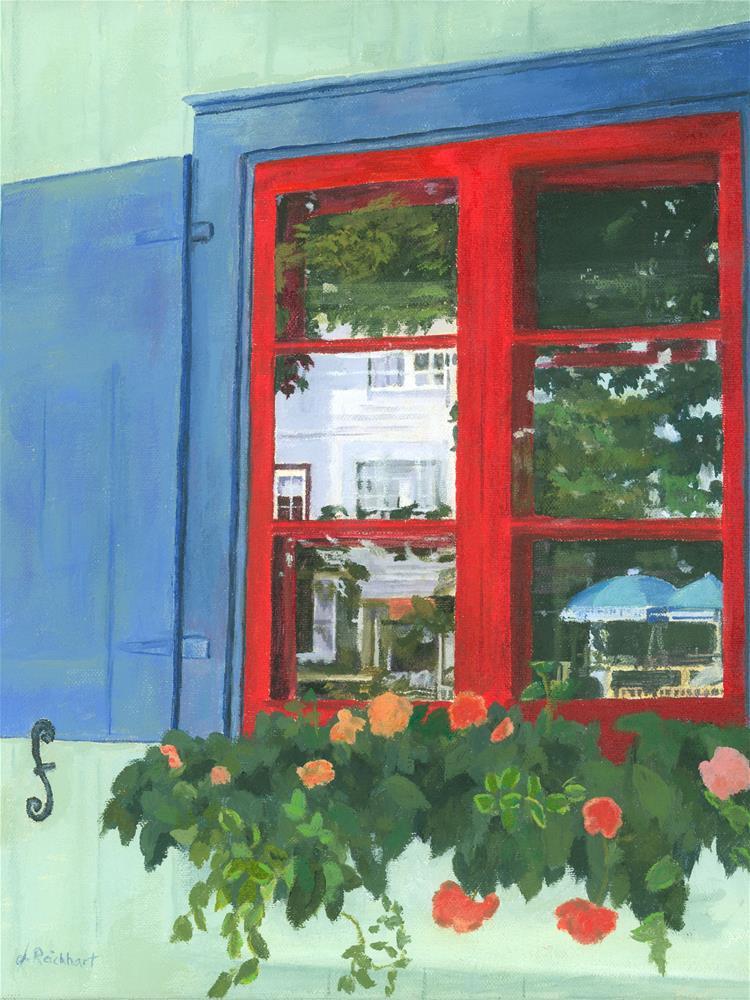 """Reflecting Panes"" original fine art by Lynne Reichhart"