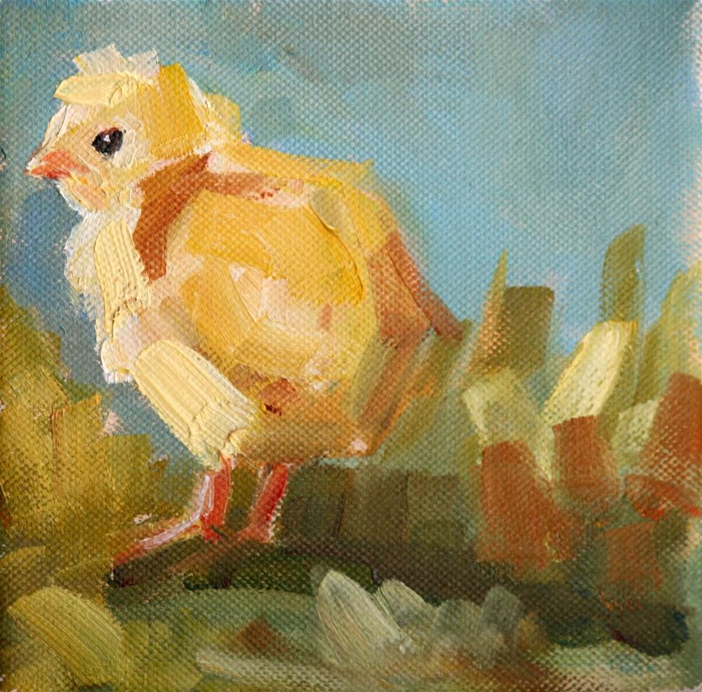 """cheep,cheep"" original fine art by Carol Carmichael"