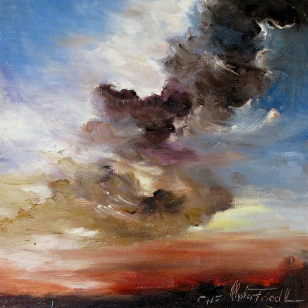 """Threatening Clouds"" original fine art by Christa Friedl"