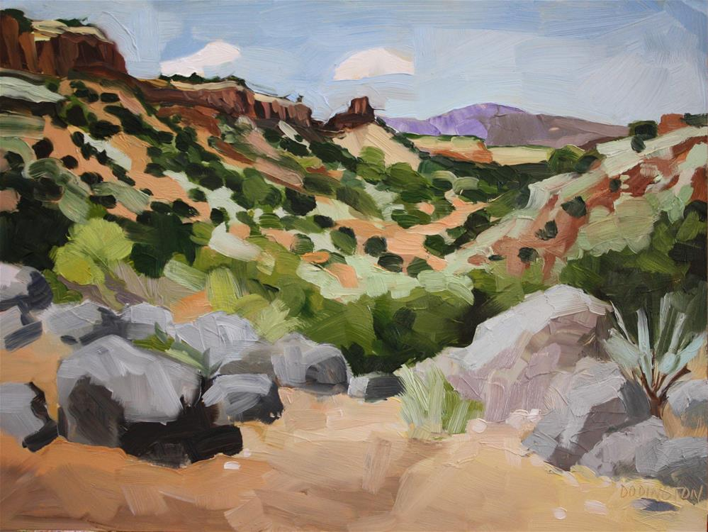 """Diablo Canyon Oil"" original fine art by Jessie Dodington"