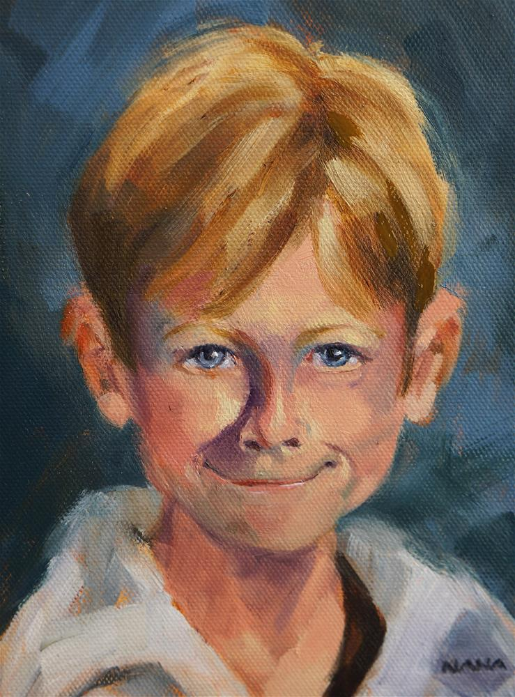 """Third Grader"" original fine art by Sue Harrell"
