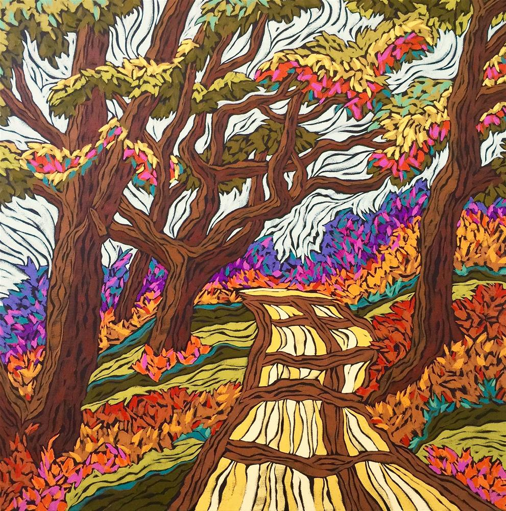 """Back Road Boogie"" original fine art by Monique Straub"