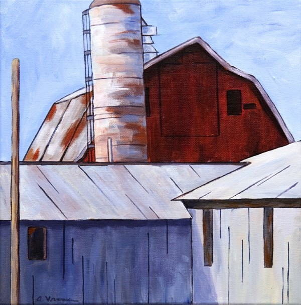 """Barns - Old and New"" original fine art by Anna Vreman"