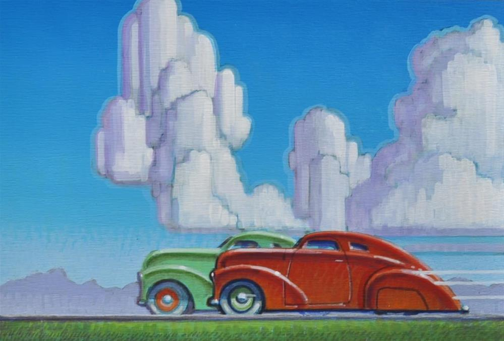 """Pink Slip"" original fine art by Robert LaDuke"