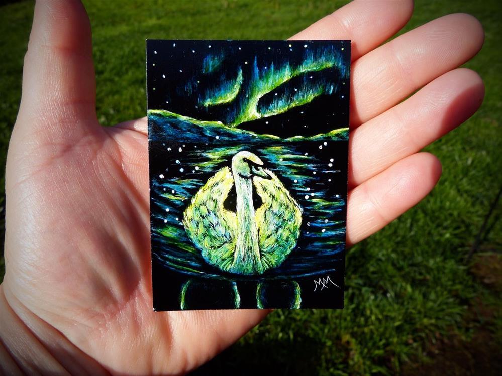 """Artic Swan  -  SA113"" original fine art by Monique Morin Matson"