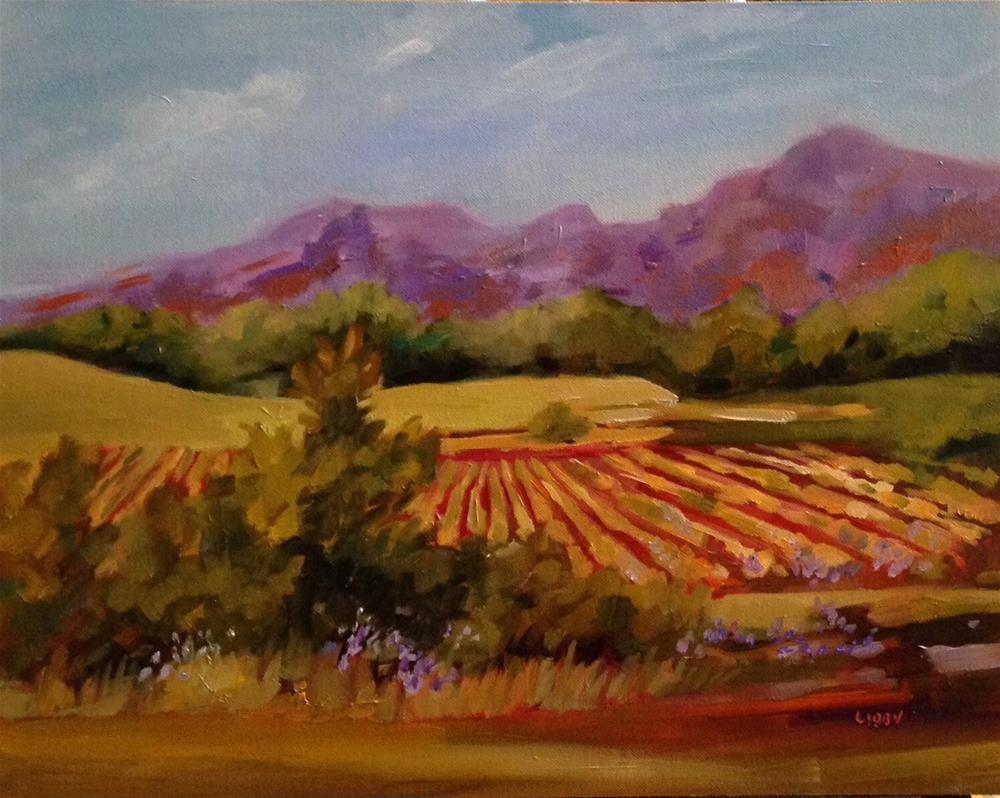 """In the Vineyard"" original fine art by Libby Anderson"